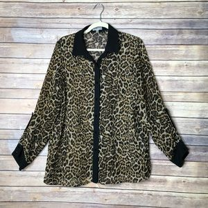 Rafaella Limited Edition Animal Print Blouse L